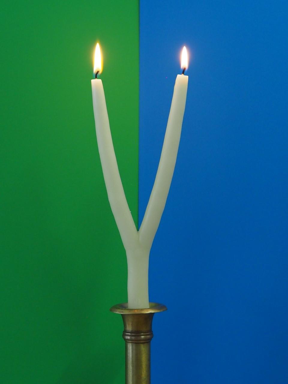 Brauchtumskerzen Zweiarmige Kerze Silvesterkerze